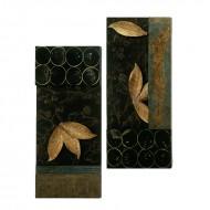 Set doua panouri decorative din lemn, 137 cm (h)
