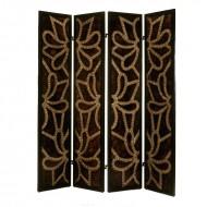 Paravan decorativ din lemn cu 4 pliuri, 213 cm (h)
