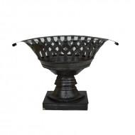 Fructiera din metal, 30 cm (negru)