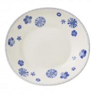 Farfurie paste 29*27 cm, Farmhouse Touch Blueflowers Relief