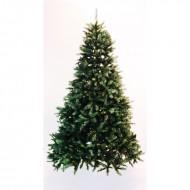 Brad verde cu 1511 tips si stand metalic inclus (inaltime brad 210 cm)