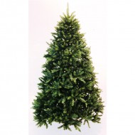Brad verde cu 2432 tips si stand metalic (inaltime brad 225 cm)