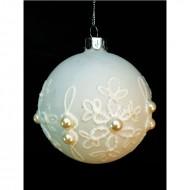 Glob de sticla cu perle, 8 cm