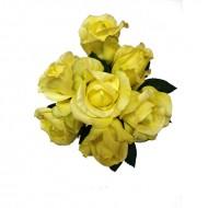 Buchet 7 trandafiri, culoare crem, 32 cm (h)